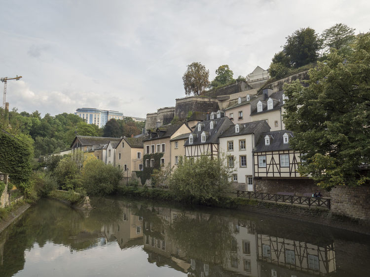 Luxembourg Streetphotography Architecture Building Exterior Built Structure City Day Growth House Nature No People Old Buildings Outdoors Reflection Residential Building River Sky Tree Water Waterfront