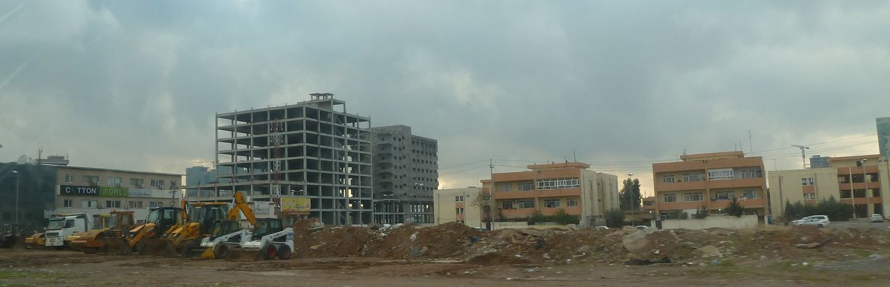 Bad Investments City Developement Erbil Empty Building Erbil City Islamic State Northern Iraq Kurdistan Lost Money Typical Arabic Investment In Houses