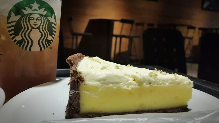 Delicious Limepie New Starbucks ❤ Happyfatguy Rainy Days☔