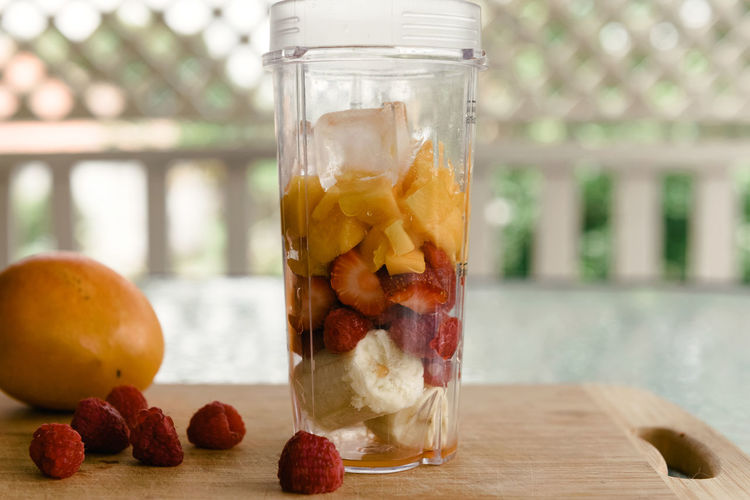 Fresh Fruit Smoothie Banana Mango Close-up Day Drink Focus On Foreground Food Food And Drink Freshness Fruit Healthy Eating Indoors  Jar No People Ready-to-eat Refreshment Smoothie Strawberries Table