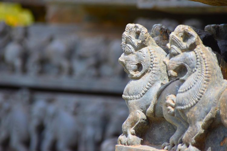 ancient architecture Art And Craft Close-up Cultures Day Outdoors Place Of Worship Sculpture Statue