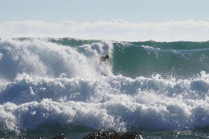 Wave Splashing Droplet Bodyboard Isla Negra Chile