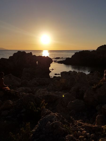 Capo Milazzo Sunset Sea Sun Beach Landscape Scenics Travel Destinations Tourism Tranquility Vacations Beauty In Nature Nature Horizon Over Water Water No People Outdoors Sky Summer Awe Tranquil Scene