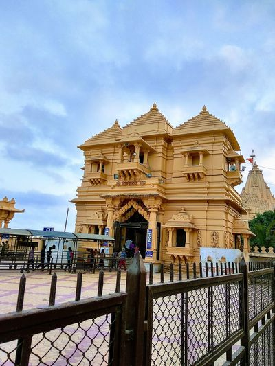 Architecture Built Structure Travel Destinations Sky Cloud - Sky Religion History Outdoors Day Building Exterior No People Temple Somnath Temple In Gujarat, India