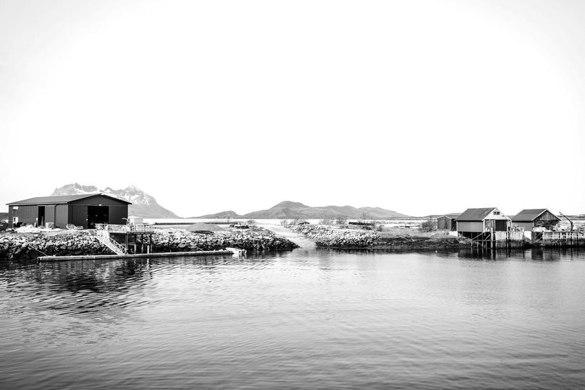 EyeEm Selects Built Structure Architecture Water Stilt House Building Exterior House Outdoors Mountain Waterfront Beauty In Nature Scenics EyeEm Nature Lover EyeEm Masterclass EyeEm Best Shots Blackandwhite Norway