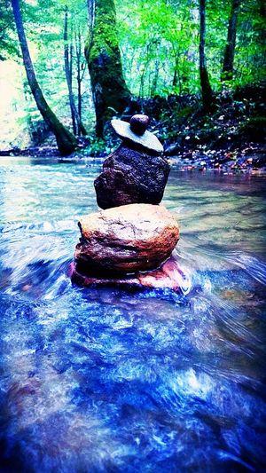 Balancing Rocks Water Tree Calm