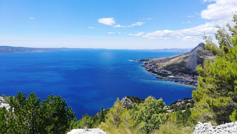 Sea Sky Blue Water Nature Horizon Over Water Beauty In Nature Adriatic Sea Omis Omis Croatia Lost In The Landscape