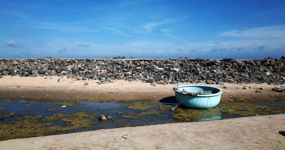 Beach Beach Life Blue Cloud - Sky Day Garbage Live For The Story Nature No People Outdoors Phan Thiet Sky Travel Vietnam Waste Management Water