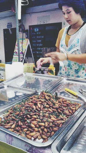 Silkworms Snack Streetfood Thursdays Mae Nam_thailand