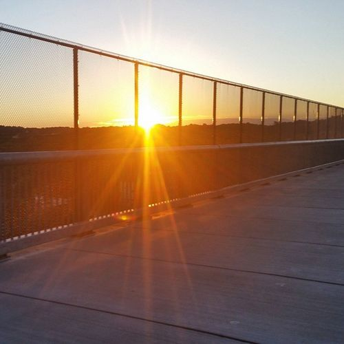 Sunrise from the Walkway Over the Hudson. Sunrise Walkway Hudson River Poughkeepsie Newyork Latergram Nofilter Bridge