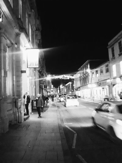 Merry Christmas shining bright in Queen Street... Monochrome Blackandwhite Exeter EyeEm Best Shots - Black + White