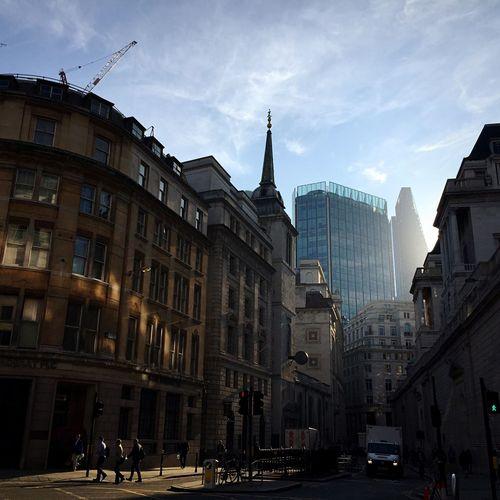 City Sunlight Bank Of England City Of London The Old Lady Sunlight Gresham Street London Golden Light