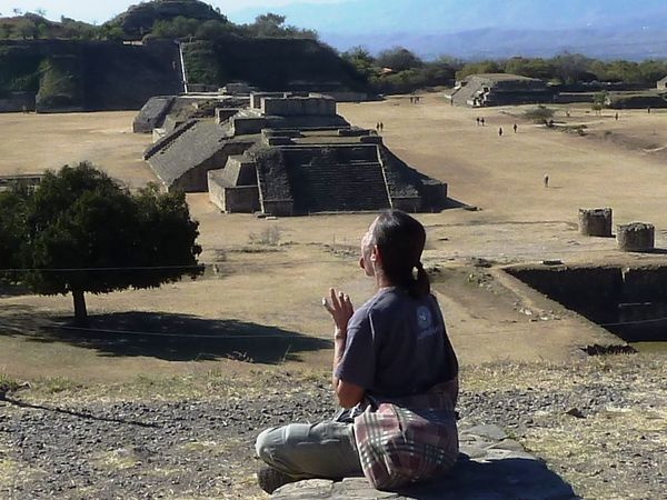 EyeEmNewHere Temple Mexico Outdoors Sun Religion And Tradition Mexican Culture Women Around The World Monte Alban
