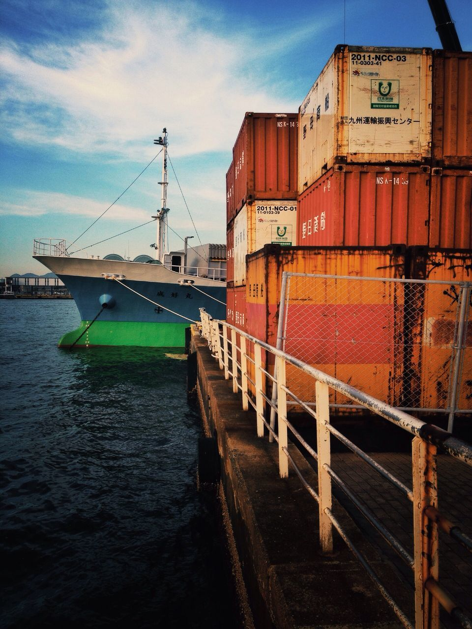 transportation, sky, mode of transport, cloud - sky, no people, water, nautical vessel, outdoors, sea, freight transportation, moored, sunset, day, nature, architecture