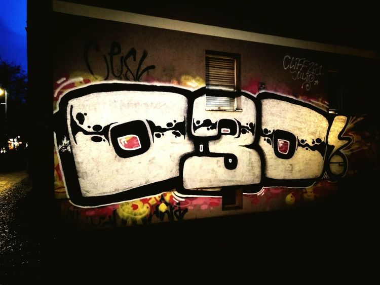 Graffiti Illuminated Night Graffiti Graffiti Art Graffitiworldwide Berlin Berlin Streetart Berlin Street Photography Berliner City At Night Germany 🇩🇪 Deutschland Car No People Text Outdoors Close-up