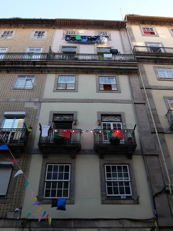 Built Structure Euro 2016 Flags Green & Red Porto Portugal