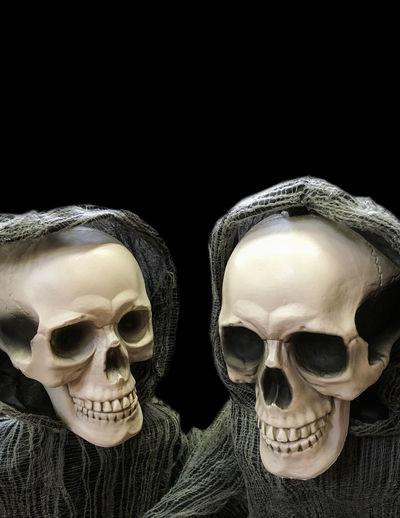 Chuckling Skeletons Black Background Bones Creativity Dead Halloween Holiday Jaw Laughing Mask - Disguise October Orbit Hole Skeleton Skeletons