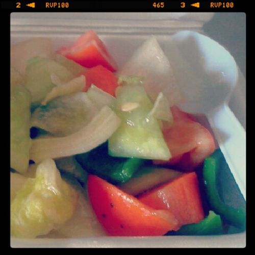 Vegetable salad for late lunch. Chef101