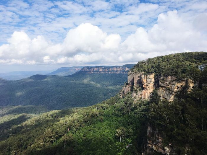 Go with wild Blue Mountains Cloud - Sky Scenics - Nature Beauty In Nature Sky Landscape Tranquil Scene Mountain Plant Nature Non-urban Scene Green Color Land Outdoors