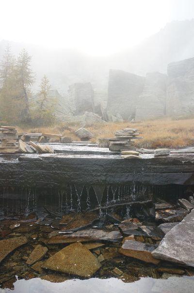 Beauty In Nature Fog Holiday Landscape Mountain Mystic Nature No People Stone Tree Water Weather Nature_collection Nature Photography Switzerland Switzerlandmountains Schweiz Suisse  Svizzera Tessin