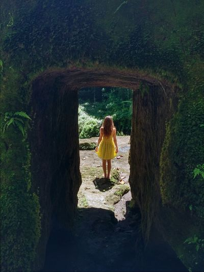 Ancient Ancient Architecture Ancient Building Ancient Culture Ancient Ruins Beauty In Nature Casual Clothing Day Frame It! Framed Full Length Green Color Growth Hindu Temple Leisure Activity Lifestyles Nature Plant Shadow Sunny Temple The Way Forward Tourism Tranquility Tunnel