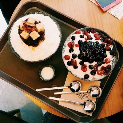 범계맛집 설빙 밀크팥빙수 베리요거트빙수 밀크 빙수 베리요거거트 베리 맛스타그램 먹스타그램 instafood 빙수스타그램