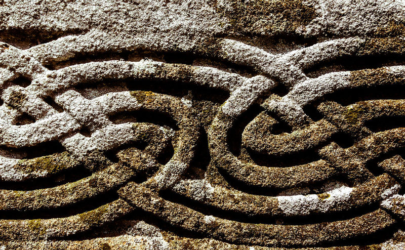 Celtic Knotwork Aged Aged Stone Ancient Architecture Ancient Civilization Backgrounds Carved In Stone Carved Stone Celtic Close-up Day Full Frame No People Outdoors Patina Pattern Stone Textured