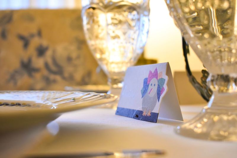 EyeEm Selects place card on table set for Thanksgiving dinner Table Still Life No People Indoors  Selective Focus Close-up Food And Drink Drinking Glass Wineglass Gold Colored Place Setting Food Day Home Interior Thanksgiving Name Card Place Card Holiday Dinner Feast Decor Art And Craft Indoors  Be. Ready. Modern Hospitality The Still Life Photographer - 2018 EyeEm Awards Autumn Mood Holiday Moments Capture Tomorrow