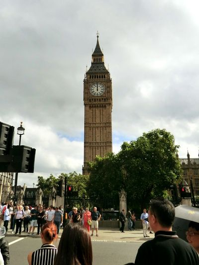 Architecture Travel Destinations People Clock Tower Large Group Of People Day London Big Ben Clock High Noon Building Exterior