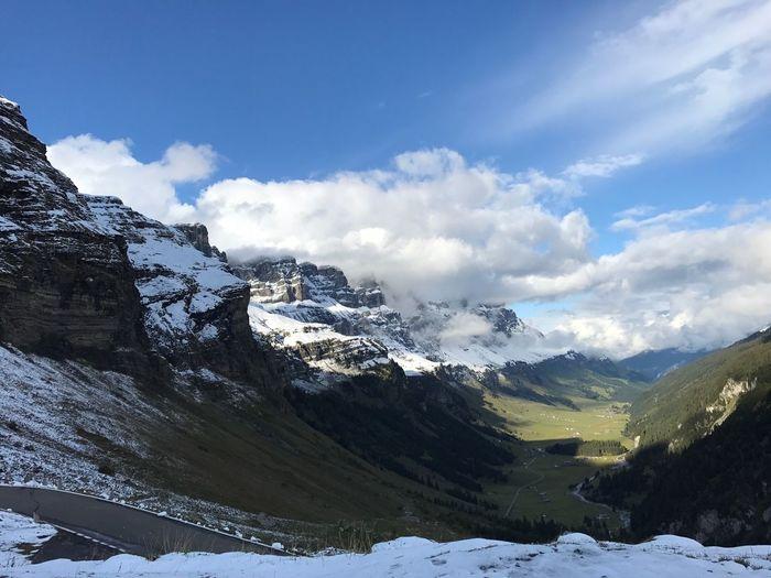 Klausenpass Mountain Snow Cold Temperature Beauty In Nature Klausenpass, Schweiz