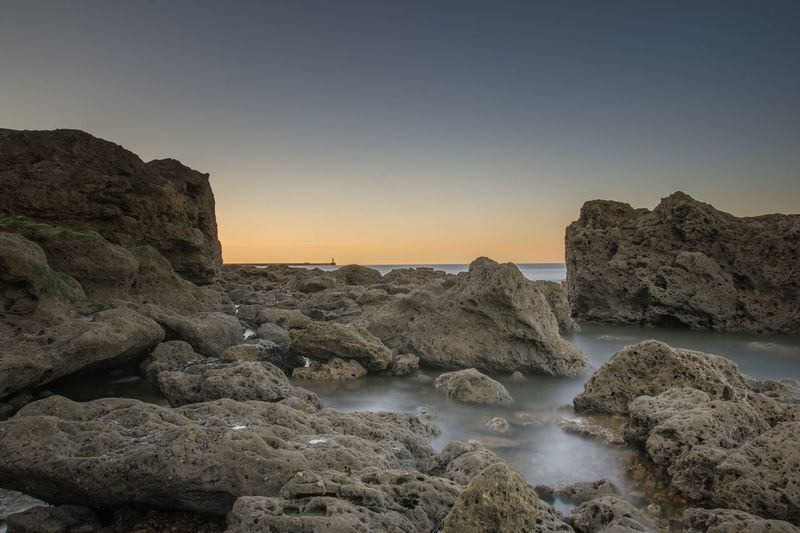 Sunset Long Exposure Sea And Sky Seaham Seaham Chemical Beach Nikonphotographer Nikon Nightphotography Sunset Nikond7200 Sigma10-20 Seascape Rocks And Water Nisi NiSi Filters