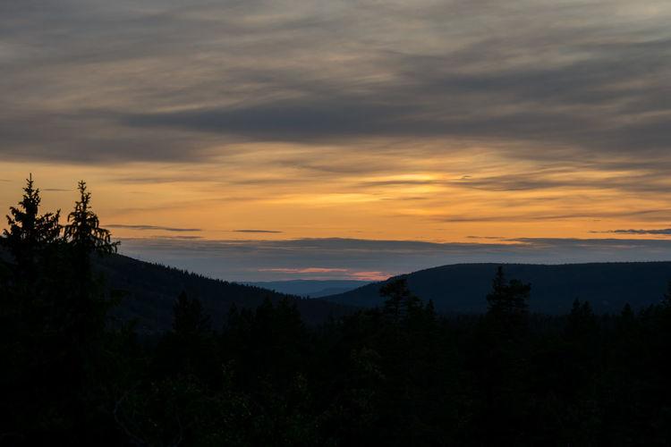Sunset in Sälen