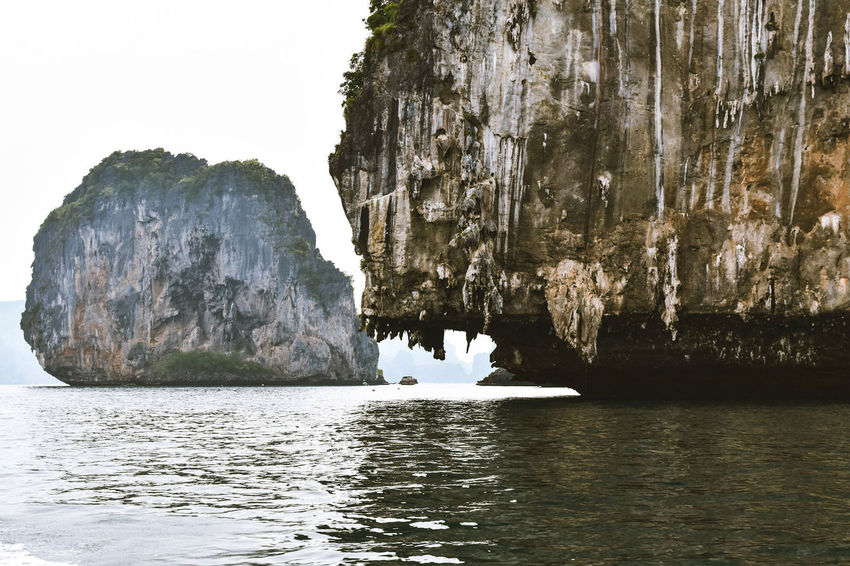 Rock formation in the Andaman Sea 🌏 Thailand Thailand_allshots Rocks And Water Rocks In Water Islandlife Island View  Islands Shore Shoreline ASIA Asian Culture Rock Andaman Sea Island Astrology Sign Multiple Image Rock - Object Sky Rock Face Yangshuo Rock Formation Cave Rocky Mountains Eroded Geology Rugged The Traveler - 2018 EyeEm Awards