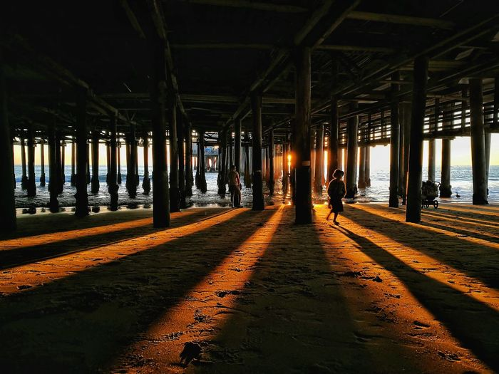 View of underneath pier