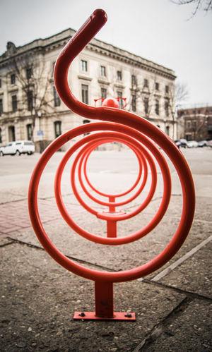 Bike Bike Rack City City Street Orange Orange Color Street Art Street Photography Streetphotography