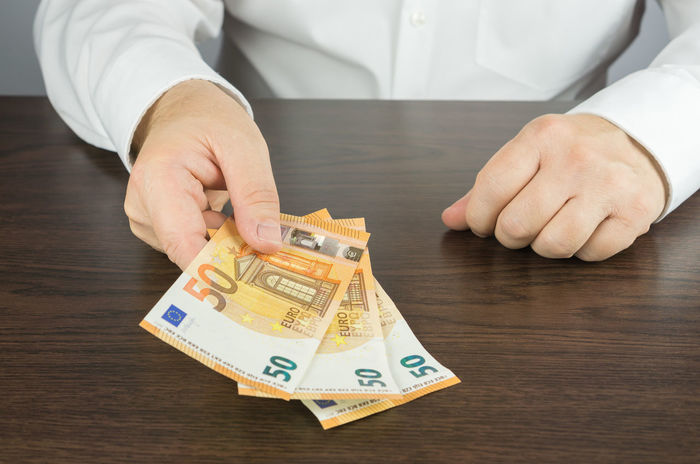 50 Banknotes Finances Bank Close-up Currency Day Euro Fifty Finance Finance And Economy Holding Human Body Part Human Hand Indoors  Money One Person Paper Currency Pay People Real People Savings Table Wealth
