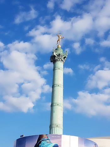 Blue Low Angle View Sky Cloud - Sky Travel Destinations Outdoors No People Day City Statue