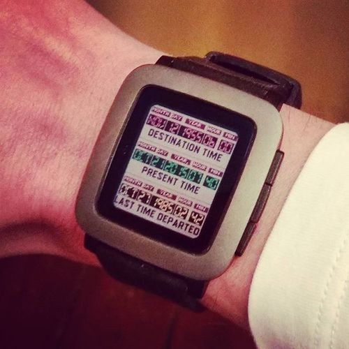 It's time, as my Pebble tells me! Welcome back to the future! Backtothefuture Bttf Pebble