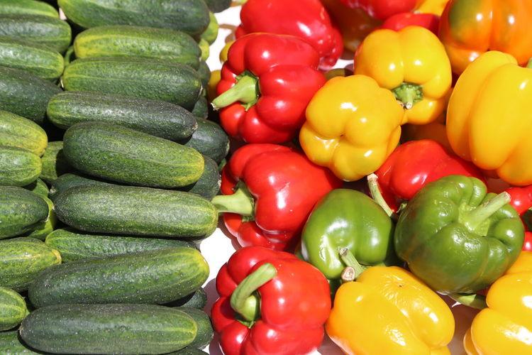 Full frame shot of various vegetables for sale in market
