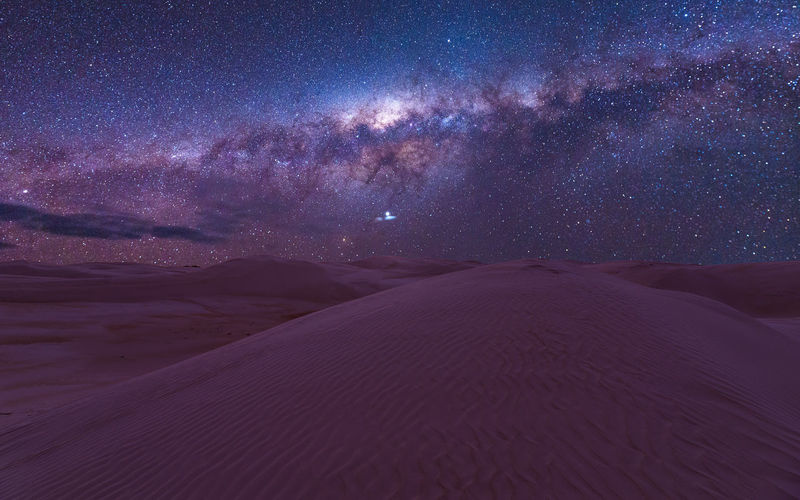Scenics - Nature Desert Sky Beauty In Nature Landscape Star - Space Land Tranquil Scene Tranquility Astronomy Nature Environment No People Space Galaxy Sand Arid Climate Night Sand Dune Non-urban Scene Climate Outdoors Milky Way Stars Australia Travel Destinations Travel