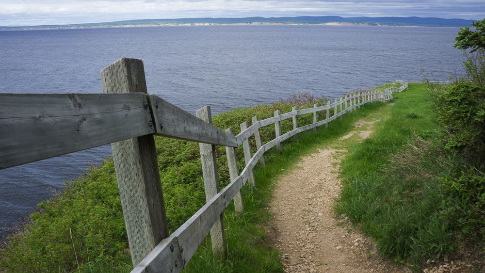 Beauty In Nature Forillon National Park Gaspesie Hiking Hiking Trail Horizon Over Water Nature No People Outdoors Path Railing Sea Tranquil Scene Travel Destinations Let's Go. Together.