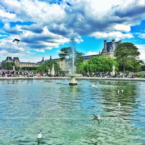 Paris Jardins Sky And Clouds Taking Photos Travel Photography IPhone IPhoneography IPhone Photography