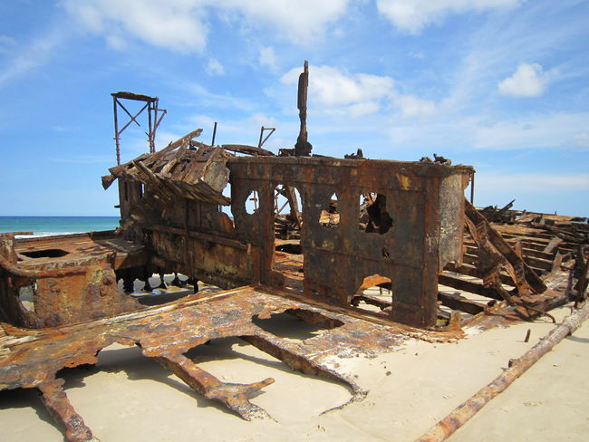#Australia #NoFilter #beach #fraserisland #nofiltertravel #rusty #shipwreck #travel #travelphotography #wreck Abandoned