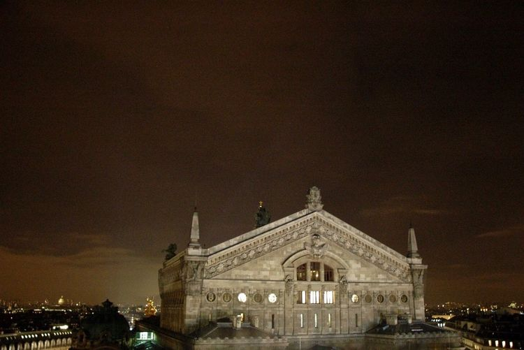 Paris Operahouse Opera Garnier Night ParisByNight Rooftop Panorama Lights