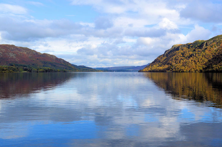 Beauty In Nature Cloud Cloud - Sky Cloudy Day Mountain Mountain Range Nature Non-urban Scene Remote Scenics Sky Tranquil Scene Tranquility Ullswater Mountains And Sky Cumbria Lake District Natural Beauty Refelections English Countryside English Landscape Natural Beauty! Water Lakeshore