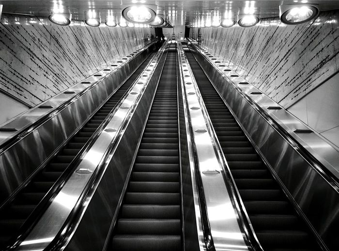 Day 265 - Helsinki Helsinki Blackandwhite Public Transportation Escalator 365project 365florianmski Day265
