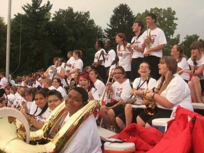 Marching Band Game Day Marion Franklin High School Marion-Franklin Red Devils
