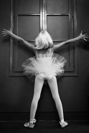 Rear View Of Ballet Dancer