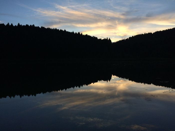 Reflection Water Sky Nature Beauty In Nature No People Lake Cloud - Sky Outdoors