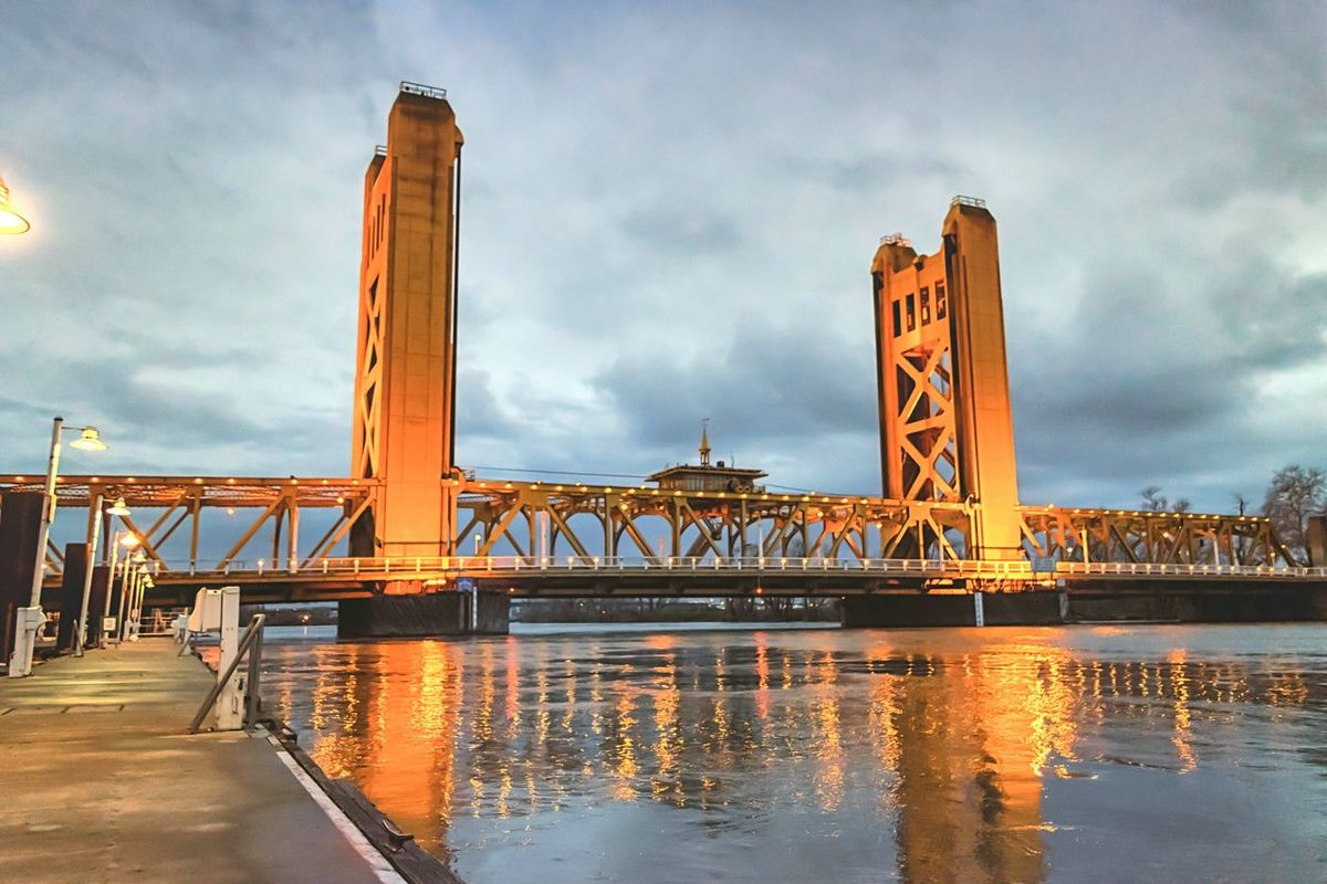 Sacramento's Tower Bridge! & The Flooded Sacramento River! Travel Destinations Travel Urban Skyline Bridge - Man Made Structure City Architecture Cultures Cityscape Water Business Finance And Industry Cloud - Sky Night Sky Outdoors No People Politician Sacramento, California California Photography Eye4photography  Oldsacramento Bridge River Reflection Reflections Neighborhood Map The Week On EyeEm